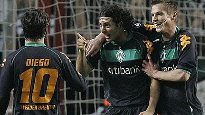 Pizarro una vez mas anota con la camiseta del Bremen