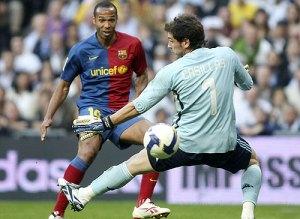 Henry vs Iker = Gol del Barcelona